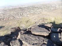 View from summit of Shaw Butte, Phoenix