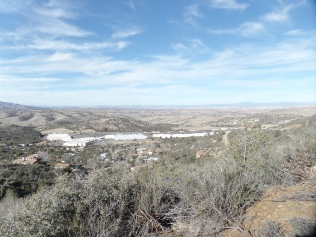 View of Frontier Village, from Badger Peak Trail, Prescott