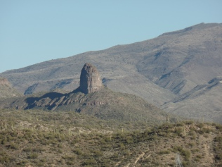 Cone-shaped rock, east of Black Canyon City