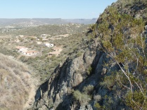 View of north Black Canyon City, from upper K-Mine Trail.