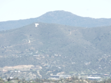 View of Badger Peak, from Javelina Trail, Prescott.