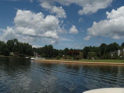 Boom along Lake Redwine, GA